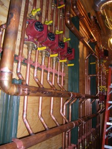 radient heating piping
